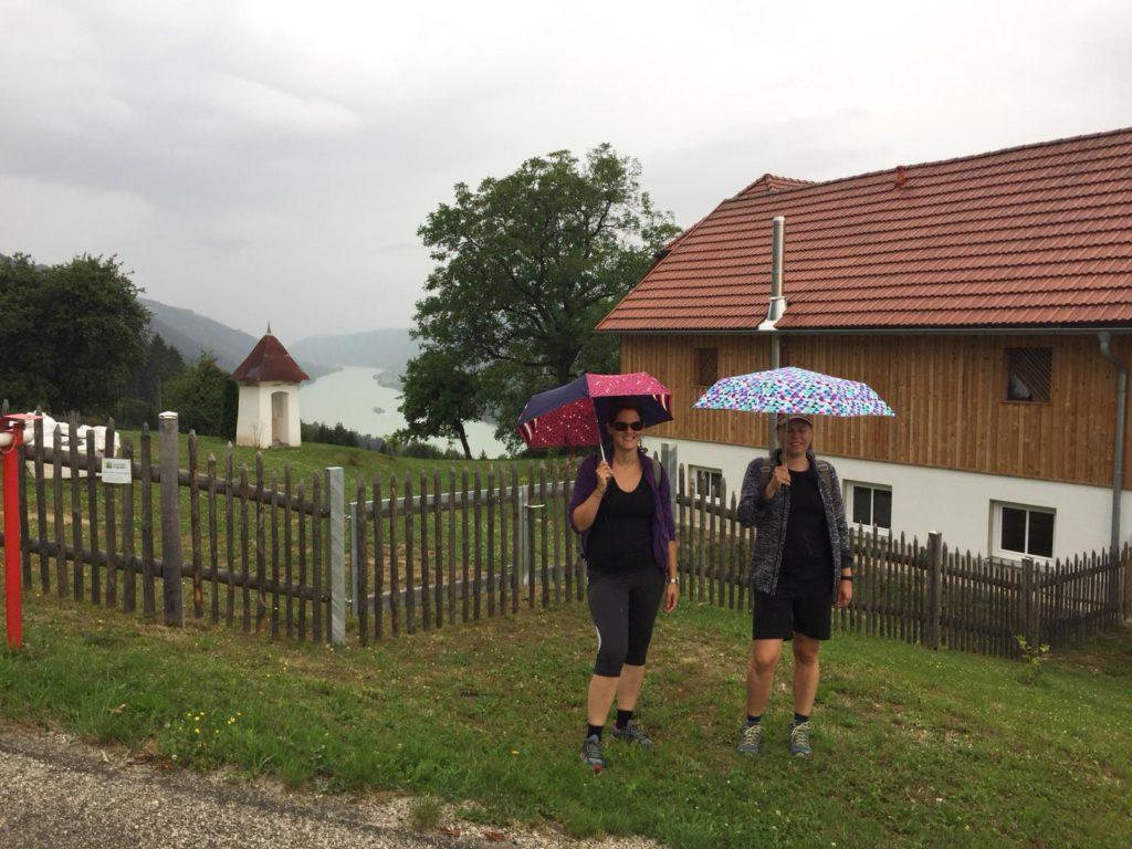 Gehöft über der Donauschlinge