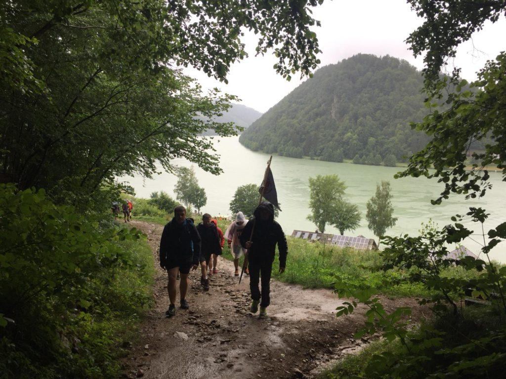 Weg von Schlögen hinauf nach Haibach